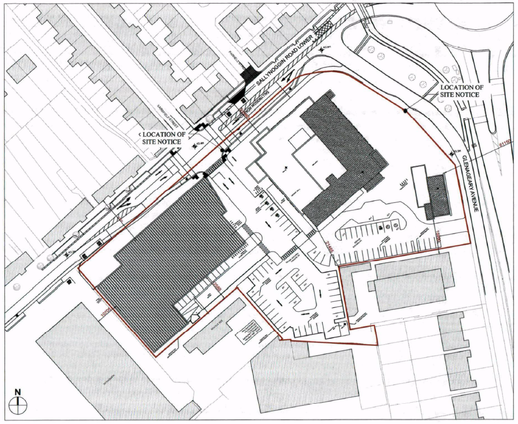 Site plan for proposed development of Deerhunter site in Sallynoggin 2015
