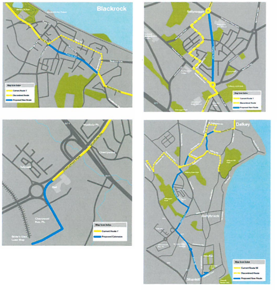 Proposed changes to bus routes in Dun Laoghaire