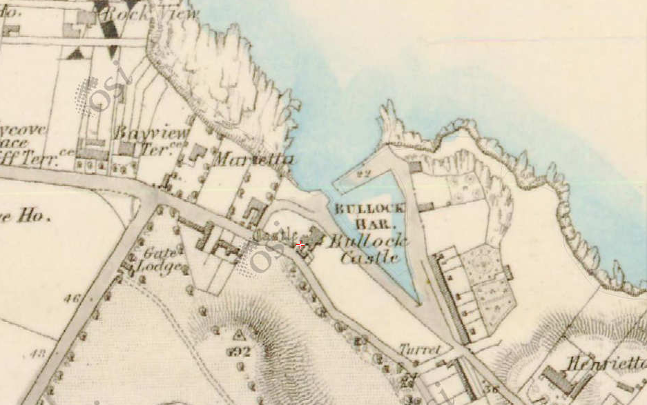 Bullock map from about 1837