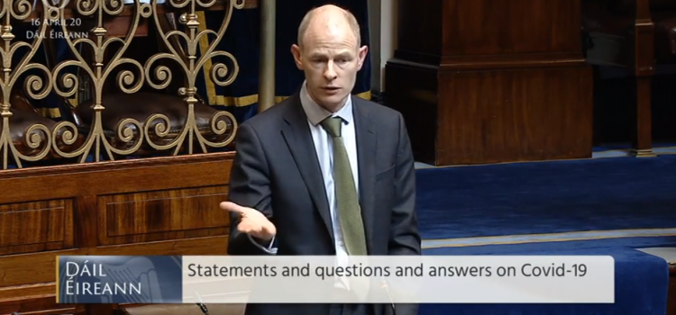 Speaking in the Dáil on non-Covid related care, A Vision for Change and scenario planning
